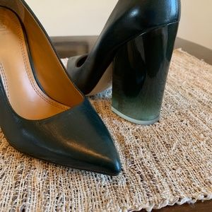 Tory Burch Fancesca green point toe heels